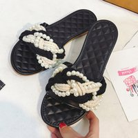 Wholesale Rubber Clogs Women - 2017 Women's Beach Clogs Air mesh slippers Casual slippers breathable Classic Clogs and Mules flat Black Pearl twist Knitting sandals