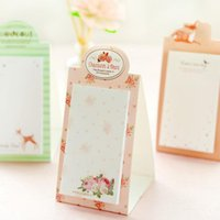Wholesale Notepad Stand - Wholesale- 2pcs lot Vintage Sweet Dream series Mini Standing notepad   DIY Multifunction message note Memo sticky GT295