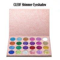 Wholesale F 24 - CLEOF Shimmer Eyeshadow 24 color Glitter Palette Beauty Shimmer CLEOF waterproof Eyeshadow f Pressed Glitter Eyeshadow Palette