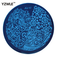 Wholesale YZWLE Hot Sale Nail Art Stainless Steel Plate Image Stamp Stamping Plates DIY Manicure Template Nail Polish Tools JQ