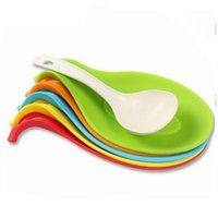 Wholesale Wholesale Knife Rest - Food Grade Silicone Cooking Kitchen Spoon Rests Non-stick For Baking Accessories Spatula Scraper Knife and Fork Tools b777