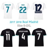 Wholesale 2017 Real Madrid Jerseys Men Kids top quality home away Campeones football shirts ISCO RONALDO ROMOS MODRIC BALE Arsenio shirts