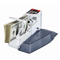 Wholesale Portable Money Machine - Wholesale-Mini Portable Handy Money Counter for most Currency Note Bill Cash Counting Machine EU-V40 Financial Equipment Wholesale
