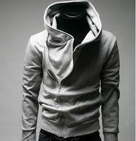 suikastçilerin inanç hoodies ücretsiz gönderim toptan satış-Moda Assassin creed erkek Ince eğik fermuar kazak ceket ceket Hoodie ceket ücretsiz kargo