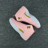 Wholesale Drop Out - Drop shipping women Retro 12 GS Hyper Youth Pink Valentines Day 12s Plum Fog Flu Game Basketball Shoes Girls Master Taxi Sneakers