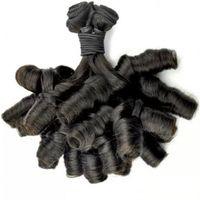 tissu en spirale en spirale péruvienne achat en gros de-Aunty Fummi Bouncy Curls Non Transformés Péruvien Vierge Cheveux Fumi Bundles De Cheveux Nigérian tisse Spiral Curl LaurieJ Cheveux