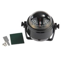 Wholesale Car Mounted Compass - Wholesale-Super sell Pivoting Compass Dashboard Dash Mount Marine Boat Truck Car Black