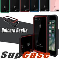 Wholesale Bumper Case Retail Packaging - Supcase Unicorn Beetle Hybrid Scratch Resistant Bumper Case Clear Cover For iPhone 8 7 Plus 6 6S Samsung S6 Edge Note 5 With Retail Package