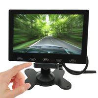 Wholesale Touch Button quot TFT LCD HD Monitor Screen AV VGA HDMI p for Home CCTV Security Car Screen Monitor DVD Screen Built in Speaker