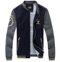 chaqueta mangas cuero xxl al por mayor-Cool College Baseball Jacket Men 2016 Diseño de moda Black Pu Leather Sleeve Hombres Slim Fit Varsity Jacket Veste Homme Xxl