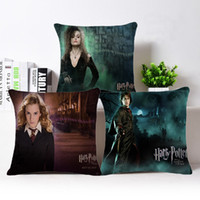 Wholesale Cotton Cushion Cover For Chair - Movie Harry Potter Pillow Case 45*45cm Linen 90g pc Throw Pillow Cases Cushion Cover for Chair Sofa Car Home Decoration Textile Gifts