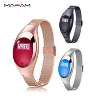 Wholesale Heart Rate Monitors Women - Z18 Women Smart bracelet Fashion gilr smart wristband Band Blood Pressure Heart Rate Fitness Monitor Pedometer Android IOS