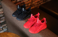 Wholesale Cheap Girls Summer Shoes - 26-30 Kids 350 trainer Mesh black red Sneakers 2017 For sale Breathable Sport brand winter Boys children Girls runming Shoes cheap