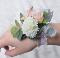 Wholesale Wrist Rose Bridal - Cheaper Romantic Bridal Wrist Corsage Wedding Flower Add Bridesmaid artifical Wedding flowers Bridal Wrist Corsage 2017 Wedding