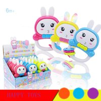 Wholesale Wholesale Musical Instrument Prices - Wholesale- 2017 New Kids Baby Rattles Infant Crab Design Rabbit Handbell Musical Instrument Jingle Rattle Toy Bebek Oyuncak Lowest Price