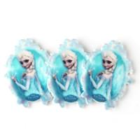 Wholesale Diy Princess Girl Gifts - 30Pcs Princess Anna Elsa Princess Sister Resin Planar Cartoon Olaf Cabochons Resin Craft For Kids Girls DIY Jewelry Accessories