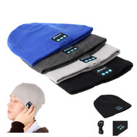 Wholesale earphone caps for iphone for sale – best New Wireless Bluetooth Soft Warm Earphone Music Knitted Hat Headphones Smart Cap Headset Speaker Mic Headgear Hat For iPhone Smart phone
