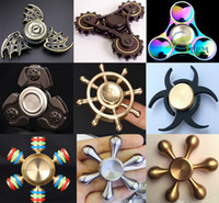 Wholesale Single Speed Toy - Fidget Spinner Top Quality Hand Spinners EDC Novelty Decompression Toy Hand Spinning 6 mins High Speed Relieves Anxiety Metal Copper