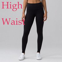 Wholesale Thickened Leggings - High Rise Waist Hi-Rise Women Brand Lulu Yoga Gym Sport Running Exercise Outfits Leggings Thicken Material Clothing