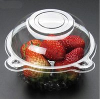 Wholesale Plastic Salad Containers - Hat Clear Plastic Disposable Plastic Cake Container Cupcakes Packaging Box Cake Box Salad Bakeware Kitchen Tool