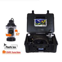 "Wholesale Cable Camera Ccd Color - 7"" Color LCD Monitor Fish Finder System 800tvl CCD Waterproof Camera Fishing 20 30 50 100m Cable Underwater Fishing Camera free shipping"