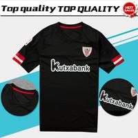 Soccer Men Short Athletic Club Bilbao away black Soccer Jersey 17 18  Athletic short sleeve soccer 36bad493085d9
