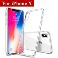 Wholesale Crystal Transparent Case - Crystal Clear Case For iPhone X 8 7 6 Plus Ultra Thin High Transparent Soft Gel TPU Case For Samsung Galaxy S8 S7