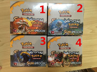 Wholesale Pokemon Games Cards - sun &moon Poke Trading Cards Games English Edition Anime Cards Board game Cards 324pcs lot Kids Toys