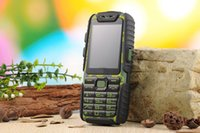 Wholesale Dual Band Water Proof Phone - WaterProof A6 Power Bank Phone Shockproof Loud Speaker Strong Flashlight Dual SIM 2.4inch rough quad band cell phone