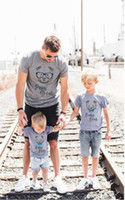 Wholesale Mom Son Outfits - Summer News Family Matching Outfits Mom And Me Short-sleeved Cartoon Bear T-shirts Mom And Son Top Soft Cotton Tees