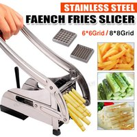 Wholesale French Fry Blades - 2 Blades Stainless French Fries Slicer Potato Chipper Chip Cutter Chopper Maker