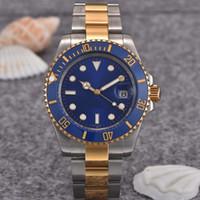 Wholesale Leather Color Bracelets Fashion Watches - Limited Edition Rose Gold Bracelet 40mm Ceramic Bezel Mens Fashion Luxury Mens Watch Brand Men Automatic Watches