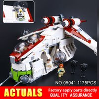 Wholesale Old Republic - Lepin 05041 Genuine The Republic set Gunship Set Educational Building Blocks Bricks Toys With 75021 Model christmas Gifts