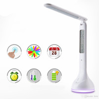 Wholesale Touch Light Switch Timer - 2017 DC5V Dimmable Led Desk Lamp 4W USB Battery Charging Table Light with Calendar Alarm Timer Atmosphere Touch Key for Children