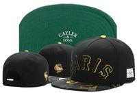 Wholesale Paris Snapback - 2017 new fashion black gold paris snapback baseball hats caps for men women brand cap sports hip hop flat sun hat bone gorras Casquette