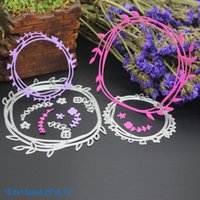 Wholesale Metal Garland - Garland DIY Metal Cutting Dies Stencil Scrapbook Card Album Paper Embossing Crafts