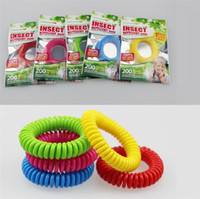 Wholesale Mosquito Repellent Band Bracelets - New good quality Mosquito Repellent Band Bracelets Anti Mosquito Pure Natural Adults and children Wrist band mixed colors Pest Control I011