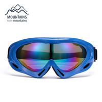 Wholesale Sunglasses Snowboard - Wholesale- Snow Snowboard Ski Windproof Dustproof Goggles Motorcycle Bike Cycling Safe Helmet Goggles Skiing Glasses Eyewear Sunglasses