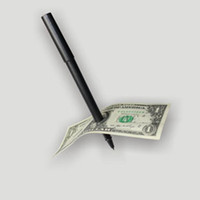 Wholesale Dollar Pen - Hot Selling Factory Price Magic Pen Penetration Through Paper Dollar Bill Money Magic Tricks Close Up Prop Christmas giftwith PP bag packing