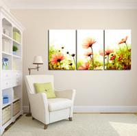 blumenbilder für die malerei großhandel-Neues Design Wandmalerei Home Dekorative Kunst Bild Malen Leinwand Druck Farbe Malerei Digital Oil Abstrakte Blumen Gedruckt Blume