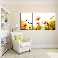 renk soyut sanat toptan satış-Yeni Tasarım Duvar Boyama Ev Dekoratif Resim Resim Boya Tuval Baskı Renk Boyama Dijital Yağ Soyut Çiçekler Baskılı Çiçek