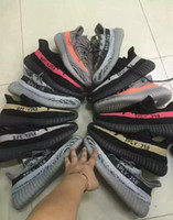 Wholesale Man Steel Cycling - 350 Boosts V2 SPLY 350 Steel Grey Beluga-Solar Red Sneaker Kanye West Boost 350 V2 Season with Receipt Black with Red link White Link