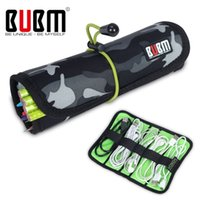 Wholesale S Gadgets - Wholesale- BUBM Brand Roll Storage Bag For Digital Gadget Devices USB Cable Earphone Pen Electronics Accessories Travel Bag Organizer Pouch