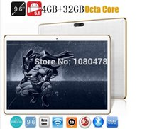 Wholesale Dhl Shipping Phablet - Wholesale- 9.6 inch 4G tablet pc Octa core bluetooth wifi GPS 1280*800 5.0MP 4GB 32GB Android 5.1 3G WCDMA MID Phablet DHL Free shipping