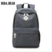 Wholesale Laptop Bags For Women Girls - Fashion Canvas Backpacks Large School bags for Girls Boys Teenagers Laptop Bags Travel Rucksack mochila Gray Women Men