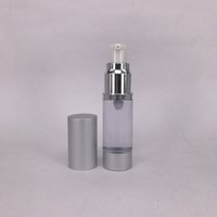 Wholesale Wholesale Treatment Pumps - Hot SALE 15ml Silver metal aluminum Empty refillable Airless Lotion Treatment Pump Cosmetic Dispensing Bottles Travel Bottle