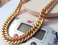 Wholesale 18k Rose Gold Gf - FILMDOM LEADING ARTIST MENS WOMEN'S HEAVY THICK STURDY ROSE BENGAL REAL 18K SOLID GOLD GF CUBAN LINK CHAIN NECKLACE 24INCH 10MM