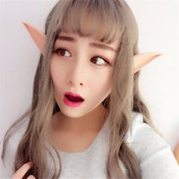 Halloween Party Fornitura Latex Soft Pointed Mysterious Angel Elf Ears Carnival Accessori Cosplay LARP Prosthetic Suggerimenti Orecchie False