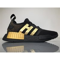 Wholesale Wholesale Running Shoes For Men - 2017 Newest Originals Medusa NMD Runner Running Shoes for Men Black gold Versaces x NMD Real Boost Sneakers Womens BA7250