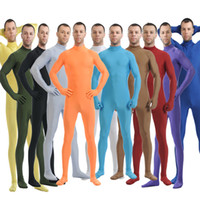 Wholesale Custom Unitard - Wholesale-Mandy Custom Second Skin Tight Suits Lycra Zentai Suit No Hood Black Mock Neck Spandex Unitard Mens Cosplay Full Body Bodysuits